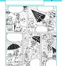 Comic Strip - Write a story online exercise [ 1413 x 1000 Pixel ]