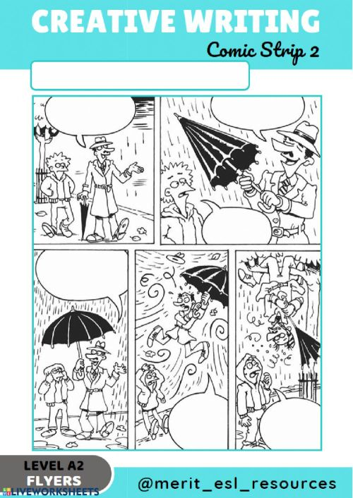 small resolution of Comic Strip - Write a story online exercise