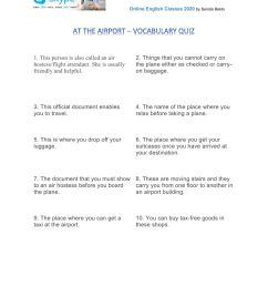 Air travel - quiz worksheet [ 1291 x 1000 Pixel ]