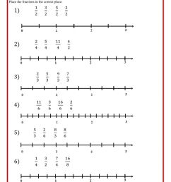 Fractions in the line worksheet [ 1413 x 1000 Pixel ]