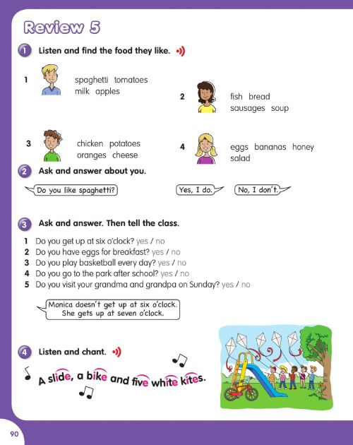 small resolution of Review 5 Pupils book 3rd grade worksheet