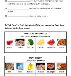 NUTRITION 7 - Food and nutrition worksheet [ 1413 x 1000 Pixel ]
