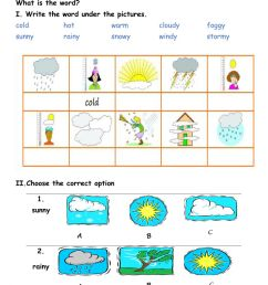The weather interactive worksheet for 4 [ 1525 x 1000 Pixel ]