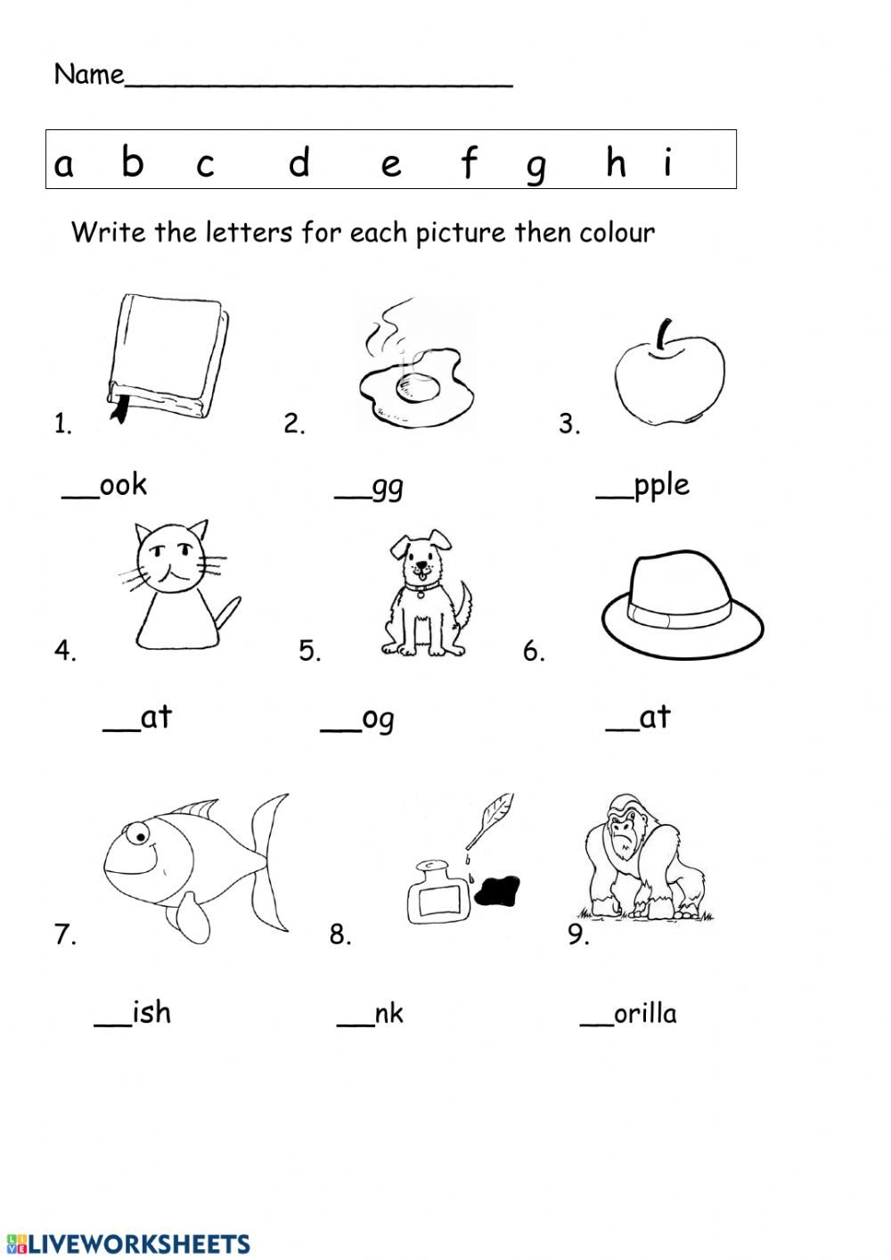 ABC and phonics worksheet