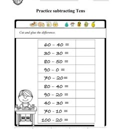 Subtracting Tens (PBT số 2) worksheet [ 1413 x 1000 Pixel ]