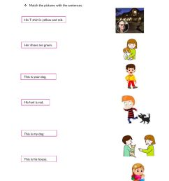 Possessive adjectives online exercise for 4th grade [ 1413 x 1000 Pixel ]