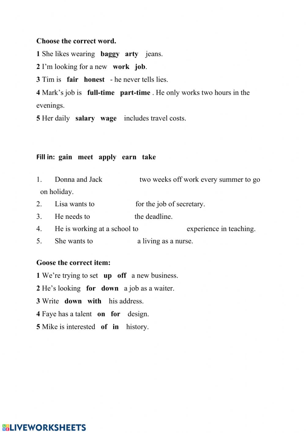 hight resolution of Vocabulary exercise for Grade 8