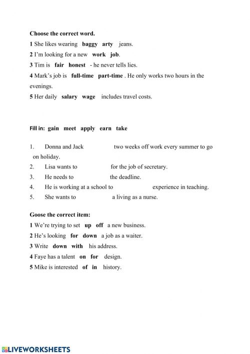 small resolution of Vocabulary exercise for Grade 8