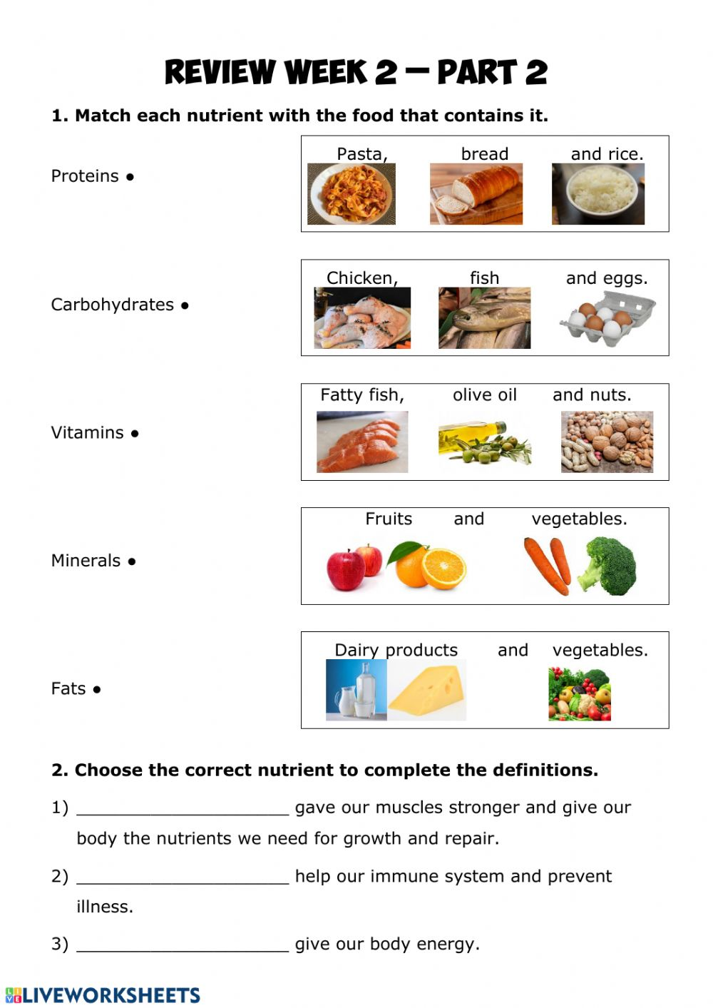 hight resolution of Nutrition review 2.2 worksheet
