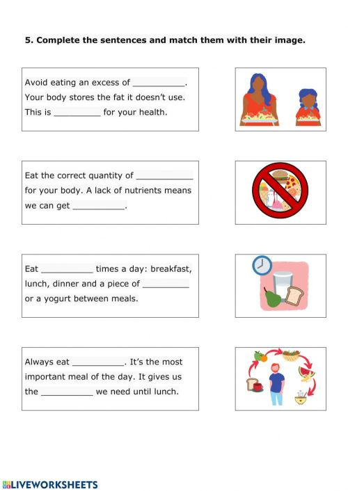 small resolution of Nutrition review 2.2 worksheet