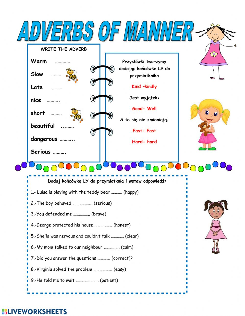 hight resolution of Sdverbs of manner worksheet