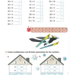 The relationship between multiplication and division - Year 2 worksheet [ 1413 x 1000 Pixel ]