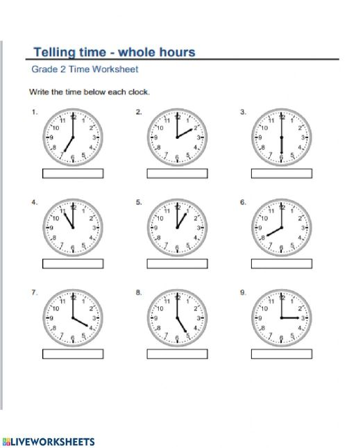 small resolution of Time to hour worksheet