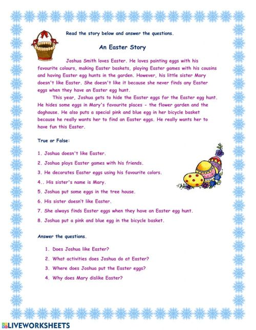 small resolution of Easter Reading worksheet