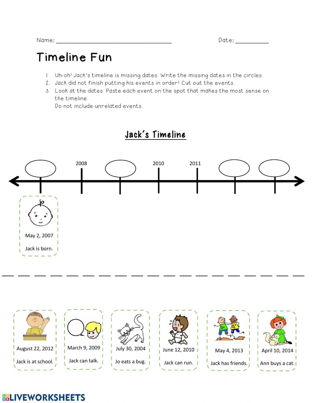 hight resolution of Timeline activity