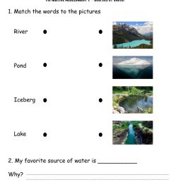 Sources of water worksheet [ 1332 x 1000 Pixel ]