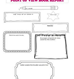 Point of View Book Report worksheet [ 1291 x 1000 Pixel ]