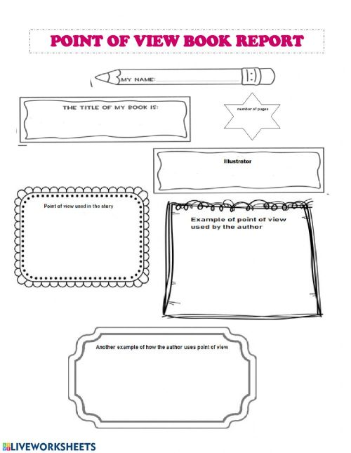small resolution of Point of View Book Report worksheet