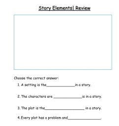 Story Elements Review worksheet [ 1291 x 1000 Pixel ]