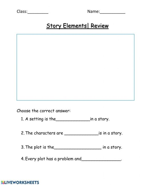 small resolution of Story Elements Review worksheet