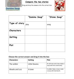 Compare Stone Soup and Domino Soup worksheet [ 1291 x 1000 Pixel ]