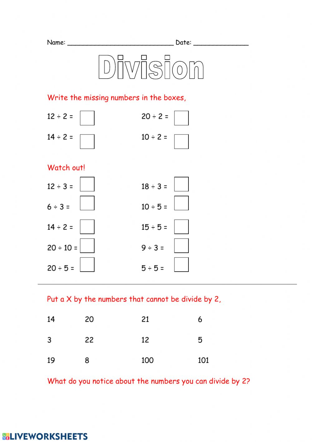 hight resolution of Division with remainders worksheet