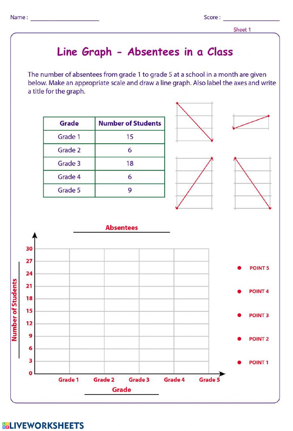 hight resolution of Line Graph - 01 worksheet