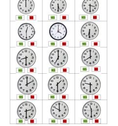 Hours o'clock and half past worksheet [ 1413 x 1000 Pixel ]
