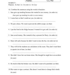 Adverb Clauses Worksheet 1 worksheet [ 1413 x 1000 Pixel ]