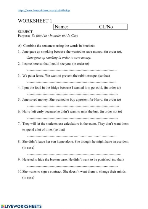 small resolution of Adverb Clauses Worksheet 1 worksheet