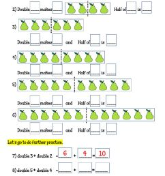 Worksheet 15 DOUBLES and HALVES Further Practice worksheet [ 1524 x 1000 Pixel ]