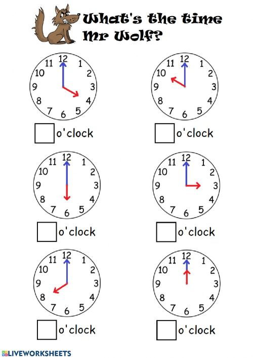 small resolution of Telling time by the hour worksheet