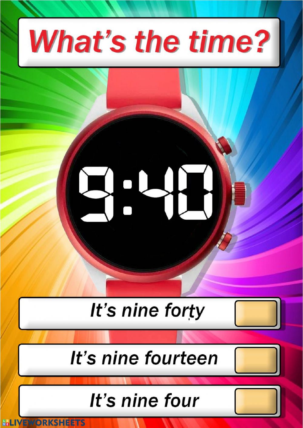 medium resolution of Digital watch - clock worksheet