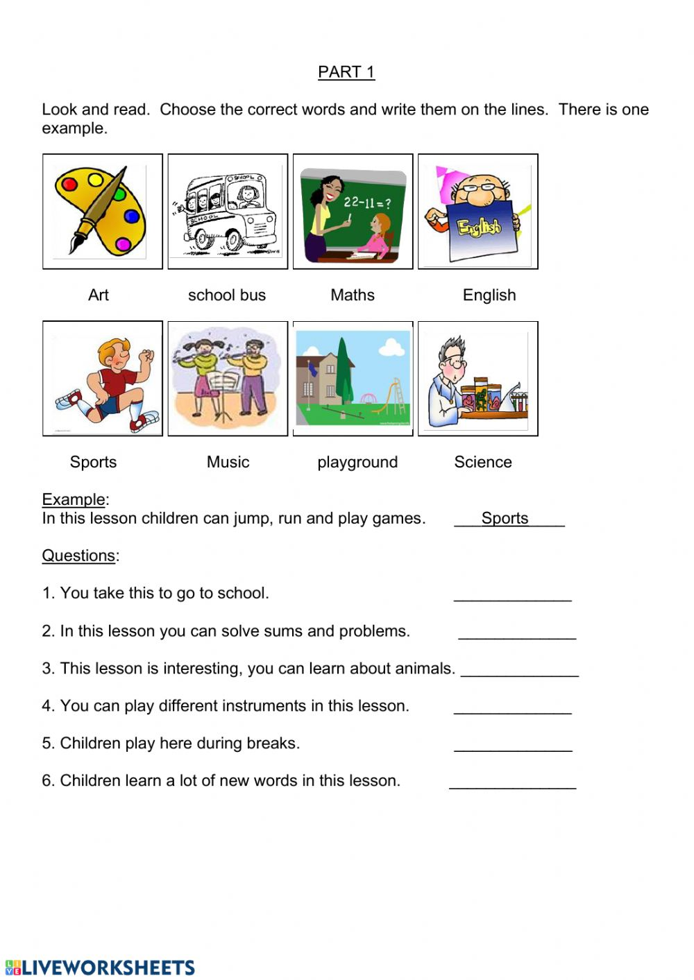 hight resolution of YLE - MOVERS - Parts 1 \u0026 2 worksheet