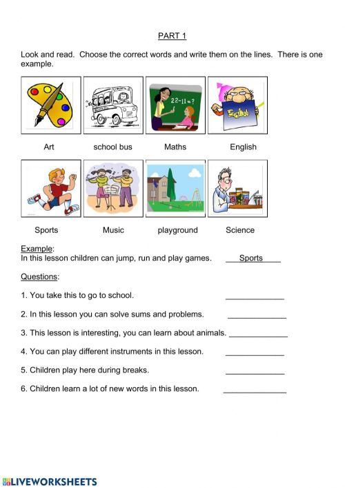 small resolution of YLE - MOVERS - Parts 1 \u0026 2 worksheet