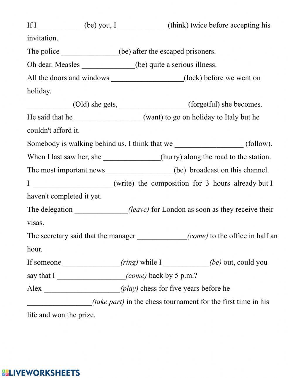 hight resolution of Mixed grammar worksheet