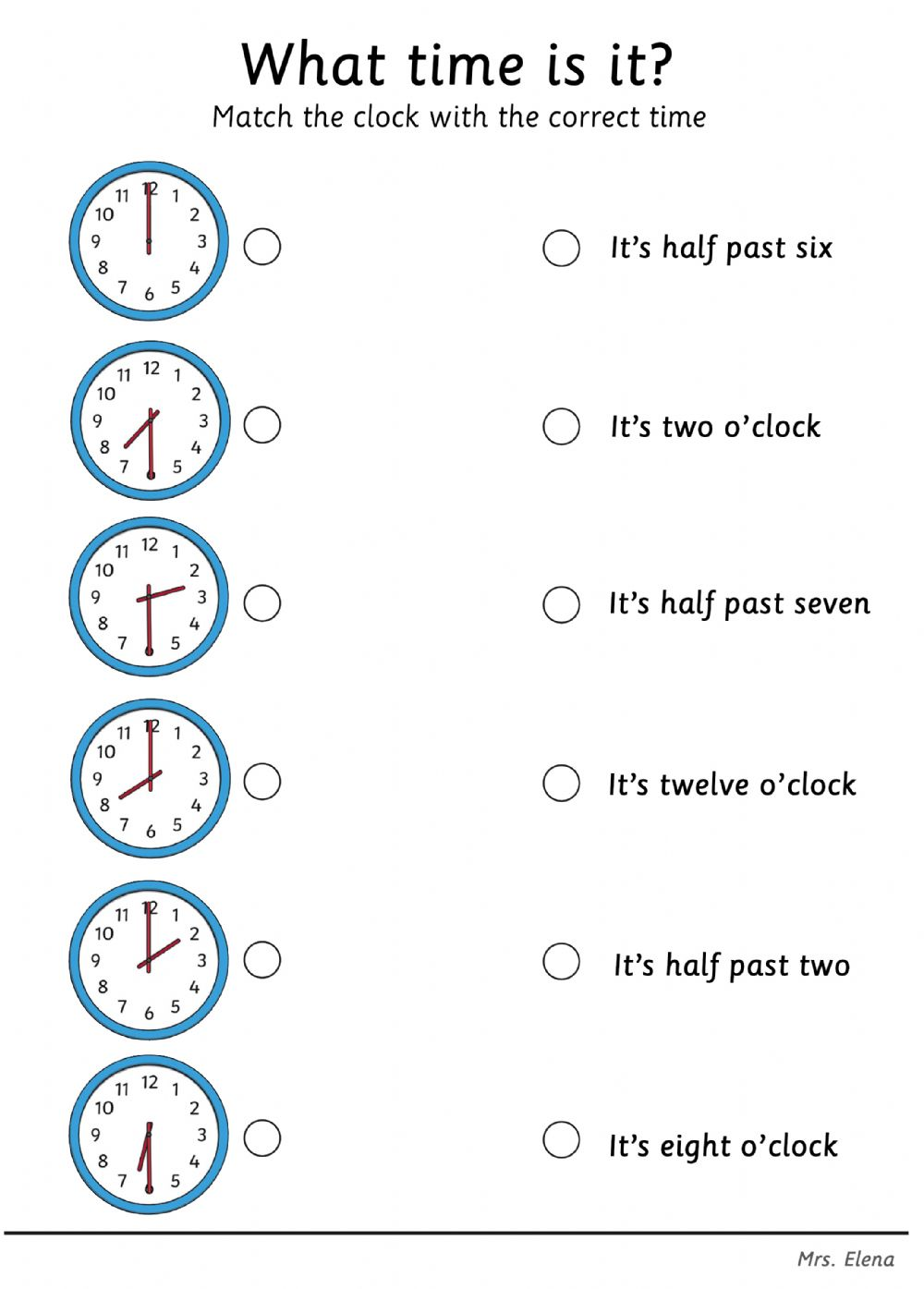hight resolution of Telling the Time interactive worksheet for grade1