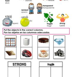 Properties of Materials - Strong or Fragile? worksheet [ 1616 x 1000 Pixel ]