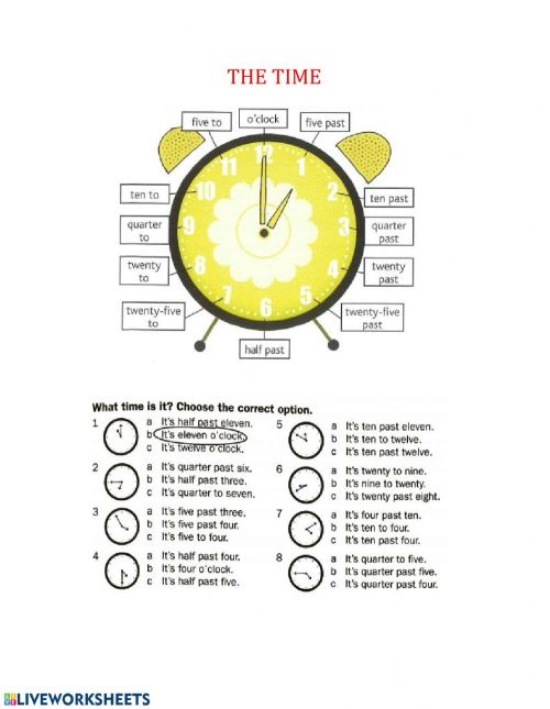 small resolution of Time worksheet for Grade 6