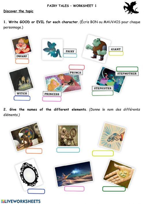 small resolution of Fairy Tales activity