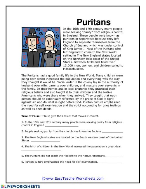 small resolution of Puritans worksheet