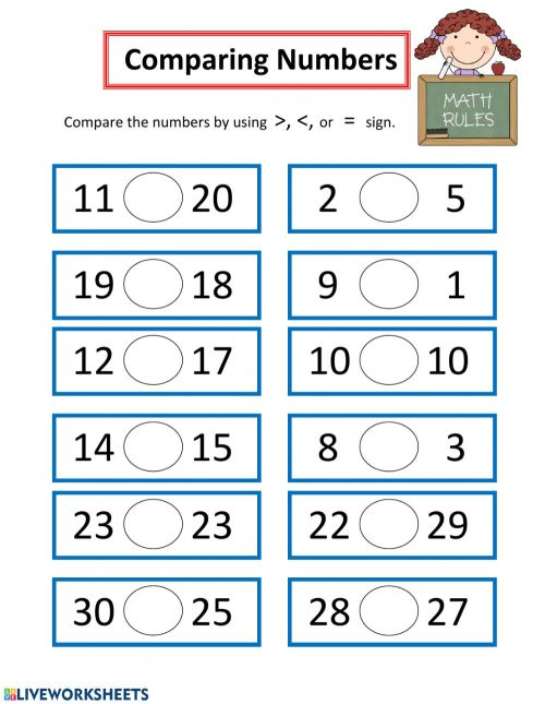small resolution of Comparing Numbers worksheet
