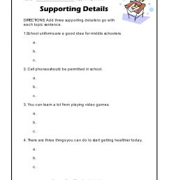 Supporting Details worksheet [ 1291 x 1000 Pixel ]