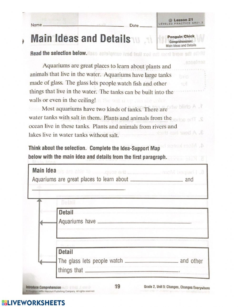 hight resolution of Main Idea and Details worksheet