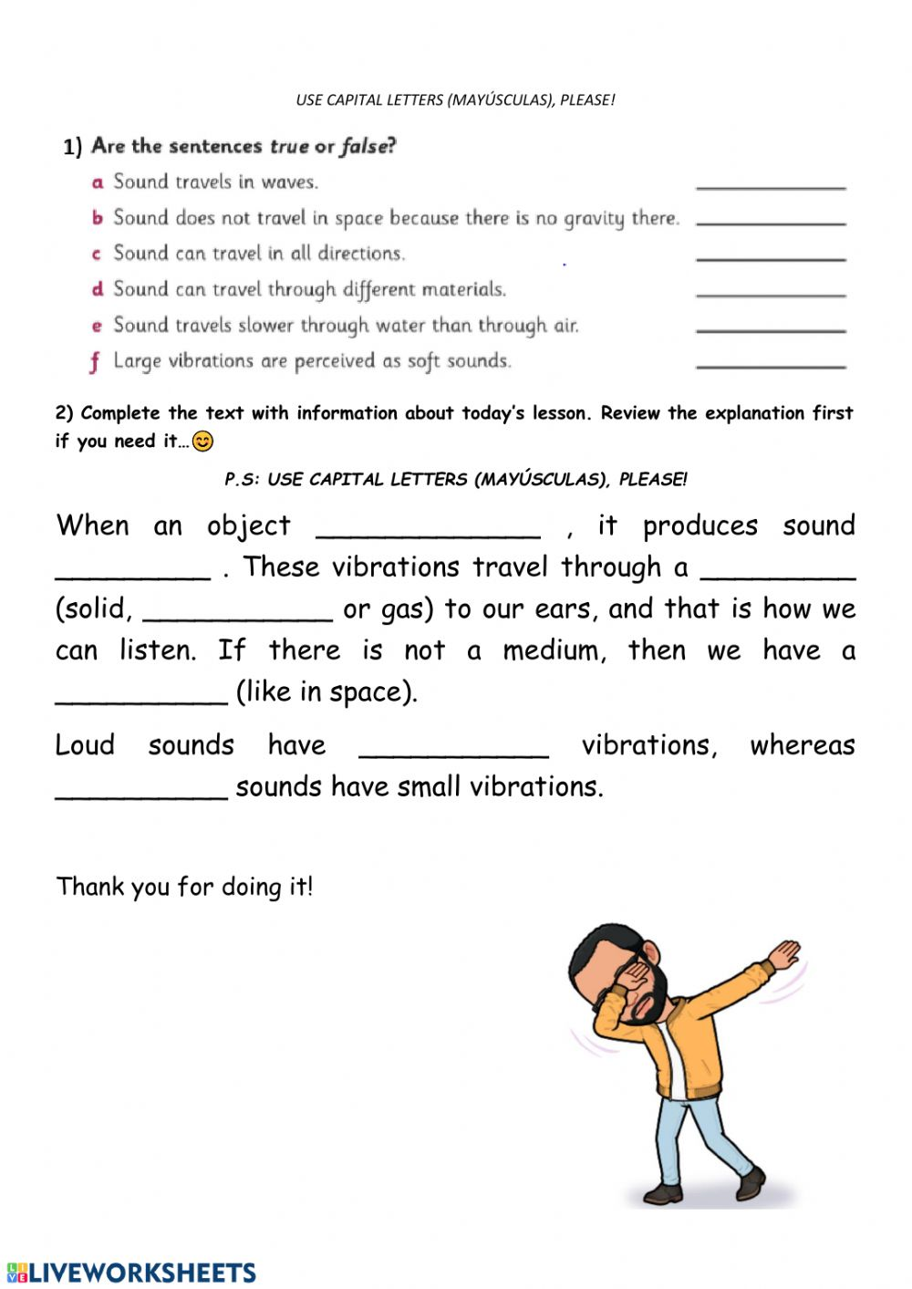 hight resolution of Natural science. sound worksheet