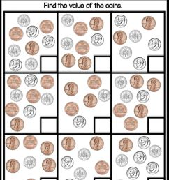 Counting dimes and pennies worksheet [ 1345 x 1000 Pixel ]