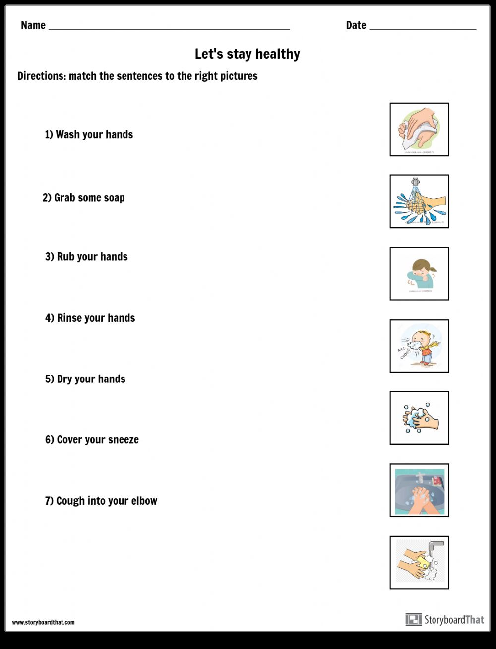hight resolution of Let's stay healthy worksheet