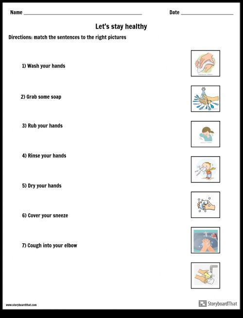 small resolution of Let's stay healthy worksheet