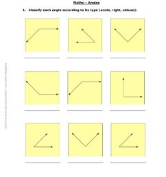 Classification angles worksheet [ 1413 x 1000 Pixel ]