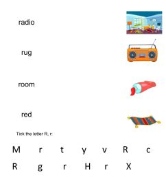 Letter r worksheet worksheet [ 1413 x 1000 Pixel ]